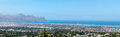 Panorama of gordons bay and the strand near cape town south africa Royalty Free Stock Photography