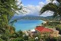 Panorama of Grand Anse beach in Grenada Royalty Free Stock Photo