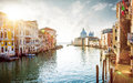 Panorama of Grand Canal in Venice, Italy Royalty Free Stock Photo