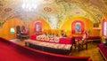 Panorama of Great Hall of Palace of Romanov Boyar Royalty Free Stock Photo