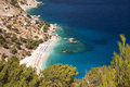 Panorama in a greek island sea Royalty Free Stock Photo