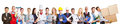 Panorama group of people from many trades and professions big occupations Royalty Free Stock Image