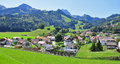 Panorama of gruyere swiss alps Royalty Free Stock Images