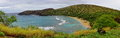 Panorama Of Hanauma Bay Nature...