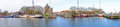 Panorama from the harbor from enkhuizen the netherlands in Stock Photo
