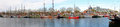 Panorama from the harbor from enkhuizen netherlands in Royalty Free Stock Image