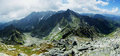 Panorama high tatras slovakia of mountains in slovekia Royalty Free Stock Photos