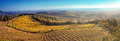 Panorama of the hills of Tuscany at sunset