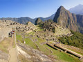 Panorama - Huayna Picchu Royalty Free Stock Photography