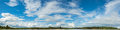 panorama image of blue sky with white cloud for background usage Royalty Free Stock Photo