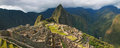 Panorama of the Incan citadel Machu Picchu in Peru Royalty Free Stock Photo
