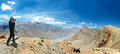 Panorama of India Himalayas mountains Royalty Free Stock Photos
