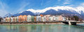 Panorama innsbruck inn Royalty Free Stock Photography