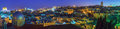Panorama jerusalem old city temple mount night israel Stock Images