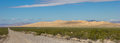 Panorama of Kelso sand dunes in the Mojave National Preserve Royalty Free Stock Photo