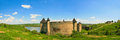 Panorama of Khotyn fortress on Dniester riverside. Ukraine Royalty Free Stock Photo