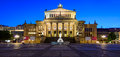 Panorama konzerthaus berlin germany with concert house in at night Royalty Free Stock Image
