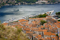 Panorama of Kotor bay, Montenegro Royalty Free Stock Image