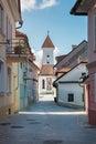 Panorama of Kranj, Slovenia, Europe. Royalty Free Stock Photo