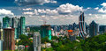 Panorama of kuala lumpur is the capital and the largest city malaysia Royalty Free Stock Photo