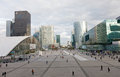 Panorama of La Defense Stock Images