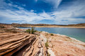 Panorama of lake powell a the in arzona Stock Photo