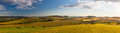 Panorama landscape - Amazing view from golf course to the valley Royalty Free Stock Photo