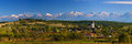 Panorama landscape hosman village transylvania romania Royalty Free Stock Photography
