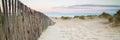 De arena dunas sistema en playa en