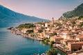 Panorama of Limone sul Garda, lake Garda, Italy. Royalty Free Stock Photo