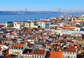 Panorama of lisbon city center portugal Stock Image