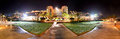 The panorama of luxury hotel in night illumination sharm el sheikh egypt Stock Photos