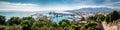 Panorama of Malaga seaport Royalty Free Stock Photo