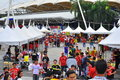 Panorama : Malaysia and Liverpool friendly match Stock Images