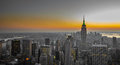 Panorama of manhattan new york beautiful Stock Photos
