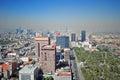 Panorama of Mexico City Royalty Free Stock Photo