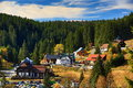Panorama modrava sumava boemerwald czech republic a picture of the Royalty Free Stock Image