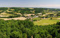 Panorama of Montaner village and Bearn region Royalty Free Stock Photography