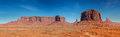 Panorama of the Monument Valley Stock Image