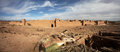 Panorama of moroccan fortress village atlas mountains in the background Royalty Free Stock Image