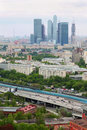 Panorama of Moscow City complex of skyscrapers Royalty Free Stock Photo