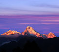 Panorama of mount Annapurna South, Nepal Royalty Free Stock Photo