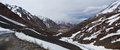 Panorama mountain landscape leh–manali highway leh–manali road highway northern india connecting leh ladakh jammu Royalty Free Stock Photography