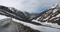 Panorama mountain landscape leh manali highway leh manali road highway northern india connecting leh ladakh jammu kashmir state Stock Images