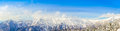.Panorama of Mountain Snow  Landscape with Blue Sky ,Japan Royalty Free Stock Photo