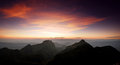 Panorama mountain sunset in thailand for background design Stock Image