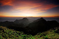 Panorama mountain sunset in thailand for background design Royalty Free Stock Image