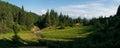 Panorama of mountains Stock Photo