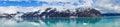 Panorama of mountains in alaska united states beautiful Stock Photos