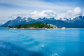 Panorama of mountains in alaska united states beautiful Royalty Free Stock Images